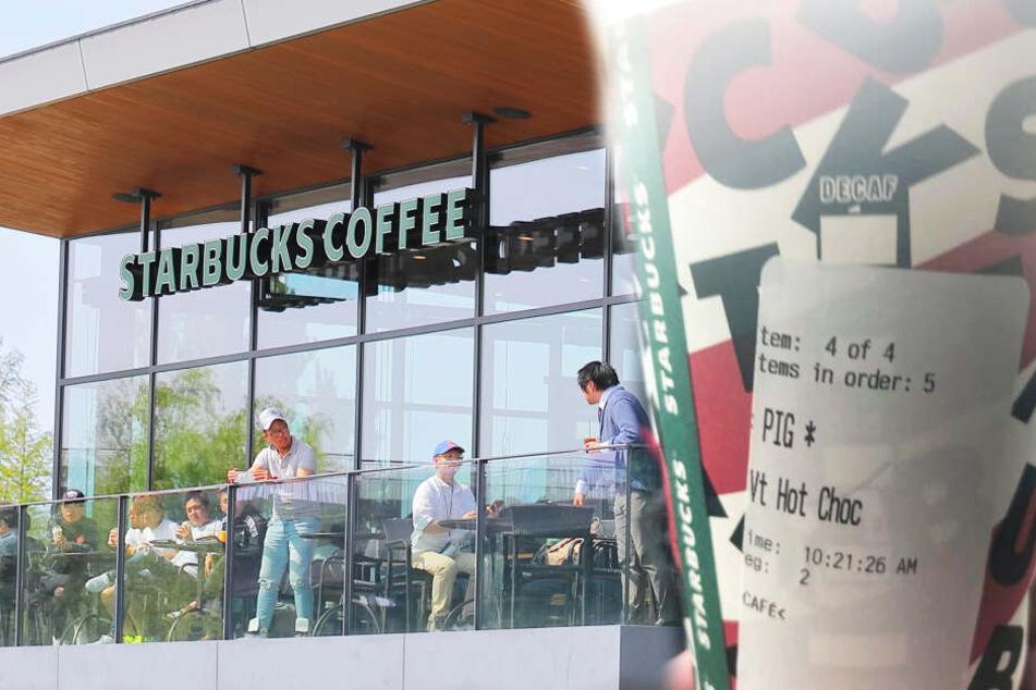 Polizisten bei Starbucks beleidigt: Unternehmen macht kein Geheimnis daraus