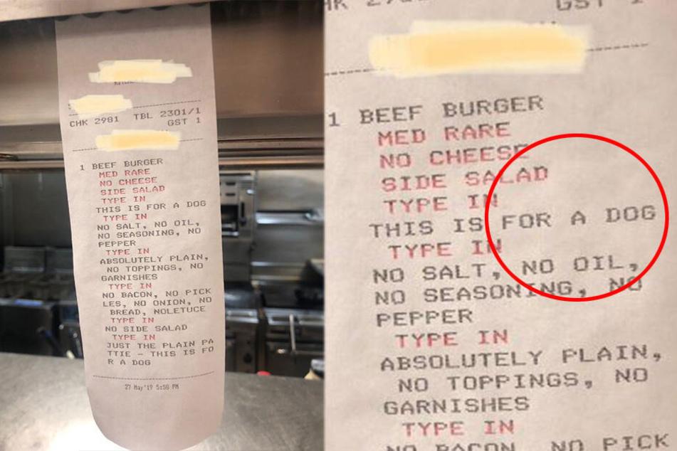 Ungewöhnliche Restaurant-Bestellung: Sie war für einen Hund.
