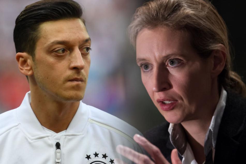 Die AfD-Chefin Alice Weidel (rechts) reagierte auf den Rücktritt von Mesut Özil.