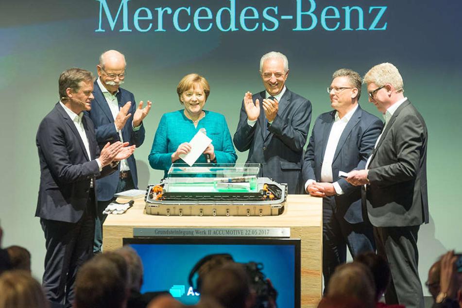 Im Mai wurde der Grundstein für die Kamenzer FabrikAccumotive gelegt.