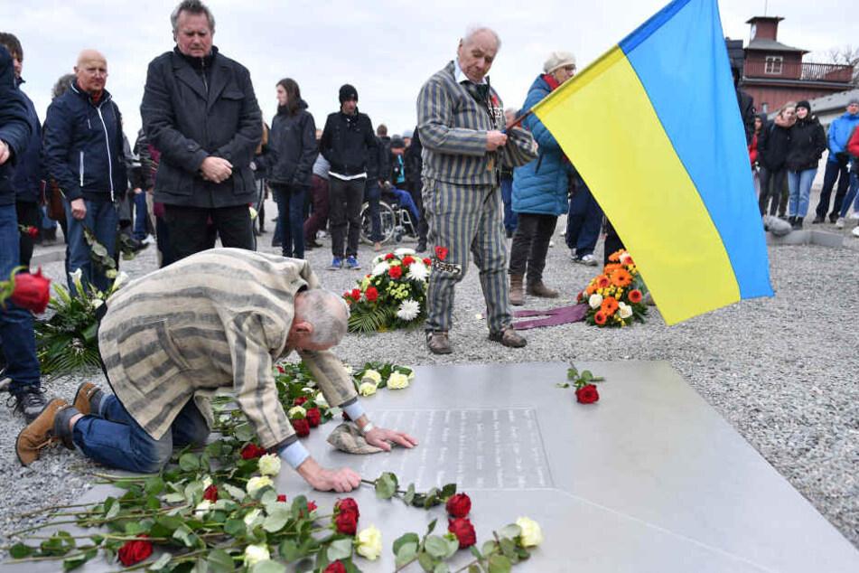 Zum 74. Jahrestag der Befreiung im vergangenen Jahr, kam viele Zeitzeugen, die an die grausamen Taten erinnerten.