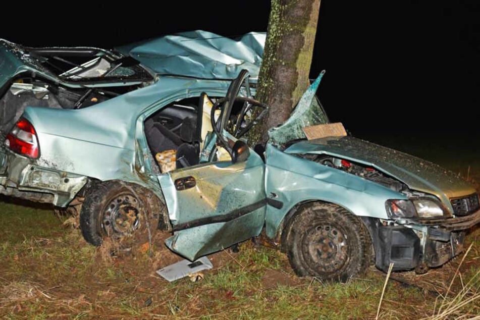 Horror-Crash! Honda-Fahrer kracht gegen Baum und stirbt