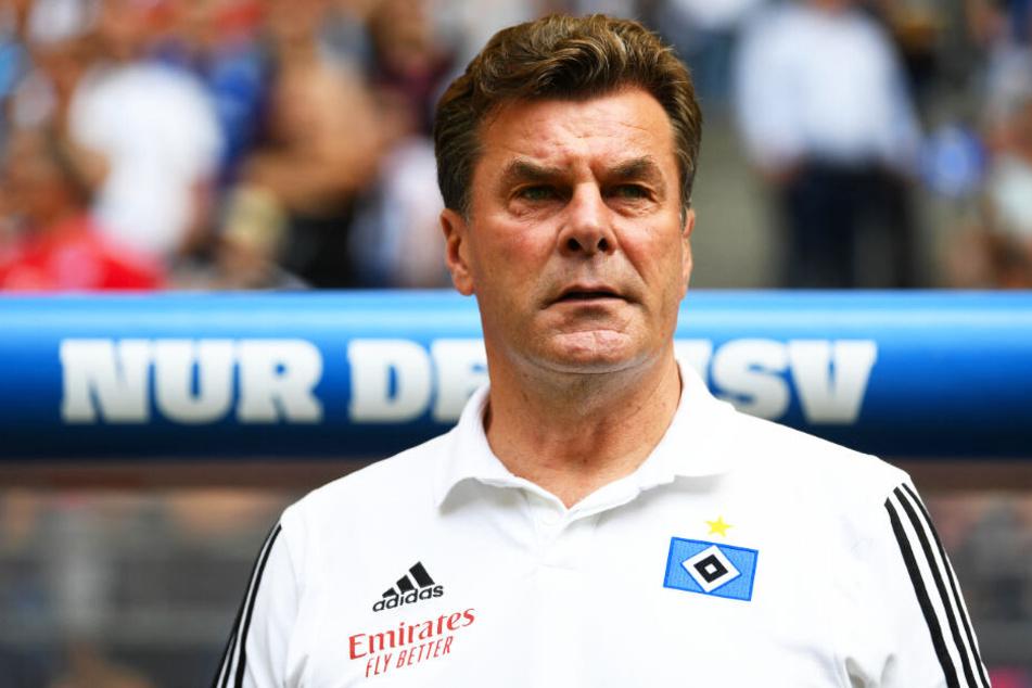 HSV-Coach Dieter Hecking ging mit seinem Team an alter Wirkungsstätte mit 2:5 baden. (Archivbild)