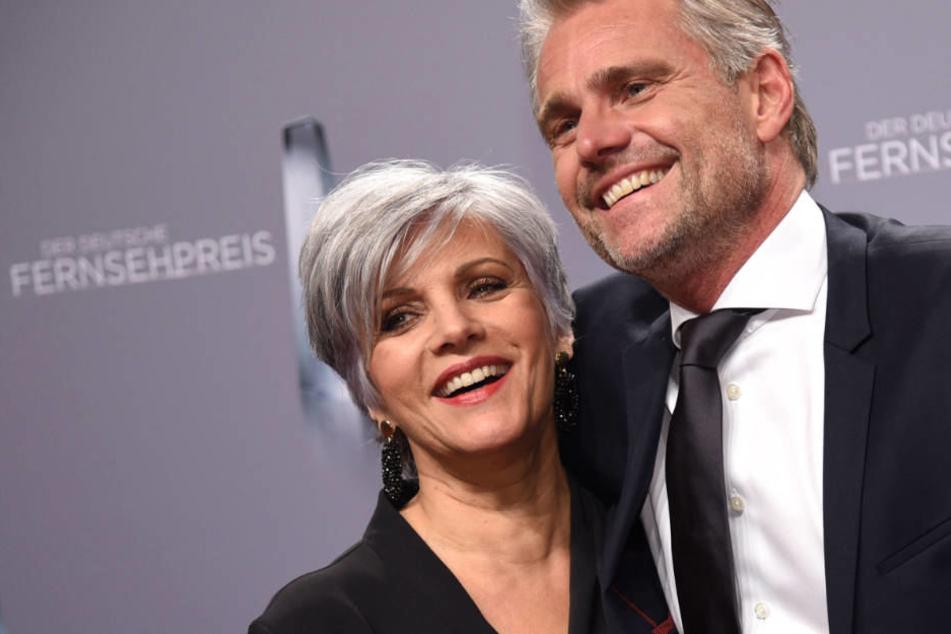 Birgit Schrowange und Frank Spothelfer bei der Verleihung des Deutschen Fernsehpreises im Januar 2018 in Köln.
