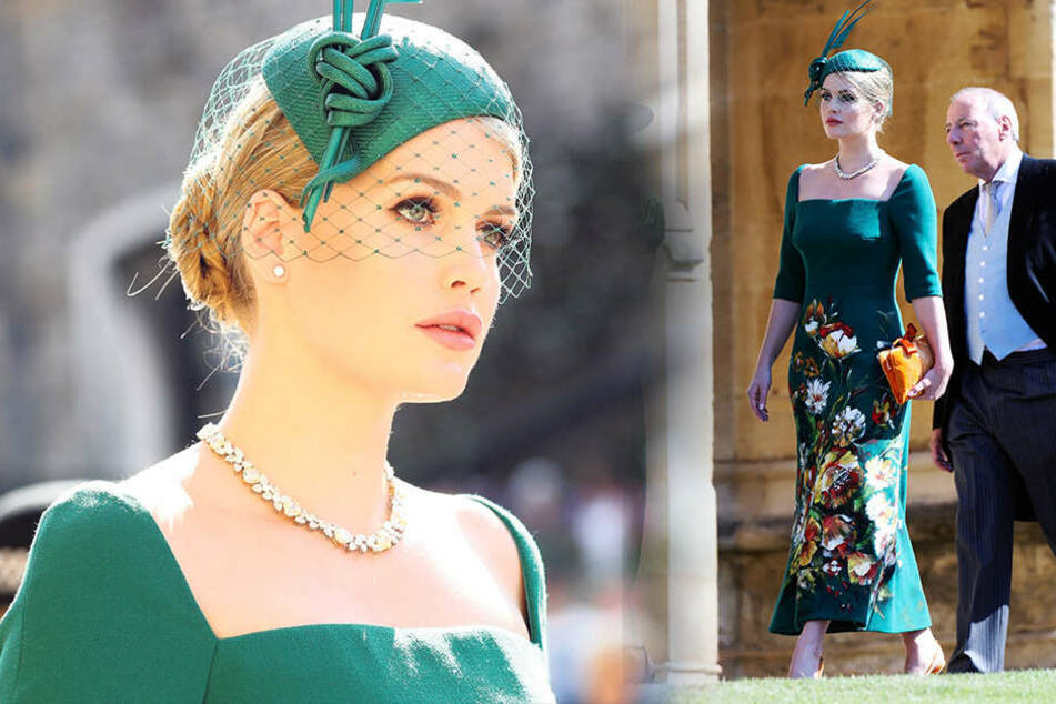 Lady Kitty Spencer auf dem zur St.-Georgs-Kapelle.