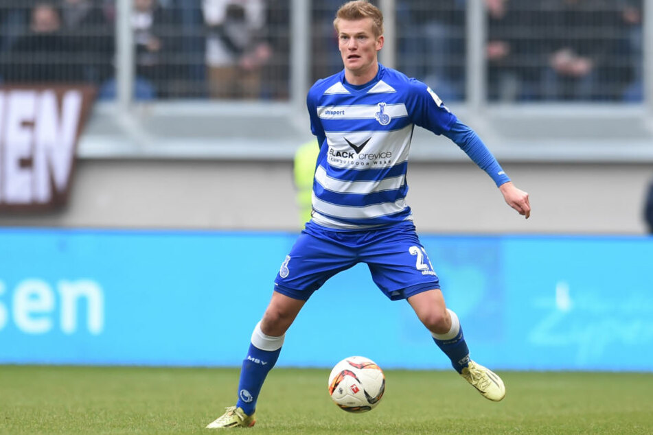 Der Ex-Chemnitzer Dan-Patrick Poggenberg spielt jetzt für Duisburg.