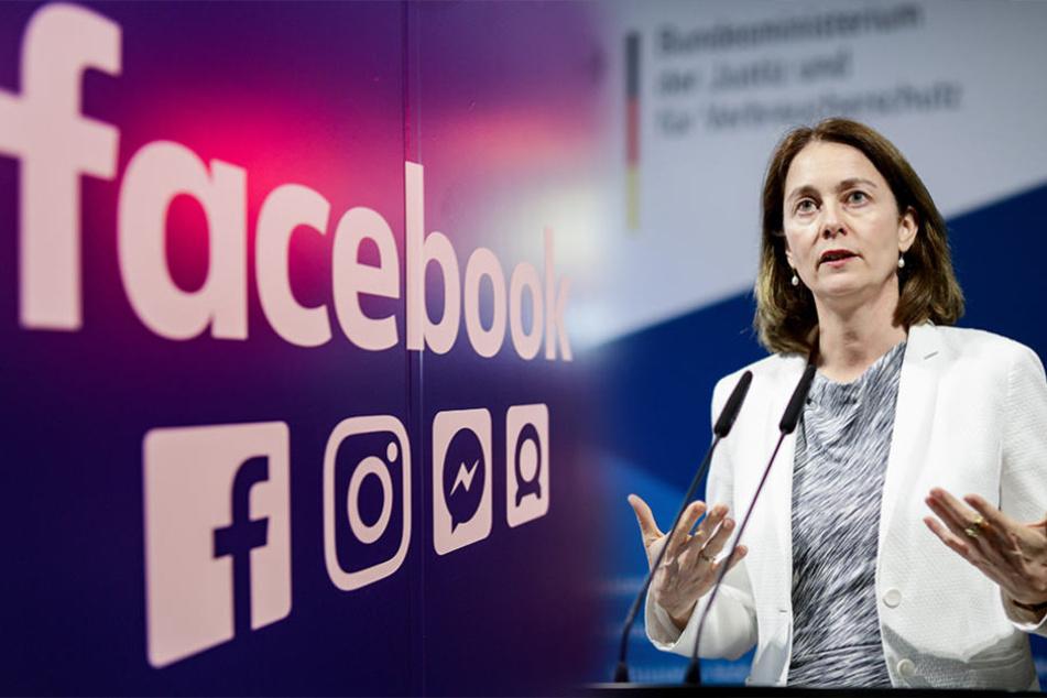 Justizministerin Katarina Barley (49, SPD) hat sich in Berlin mit wichtigen Facebook-Verantwortlichen getroffen.