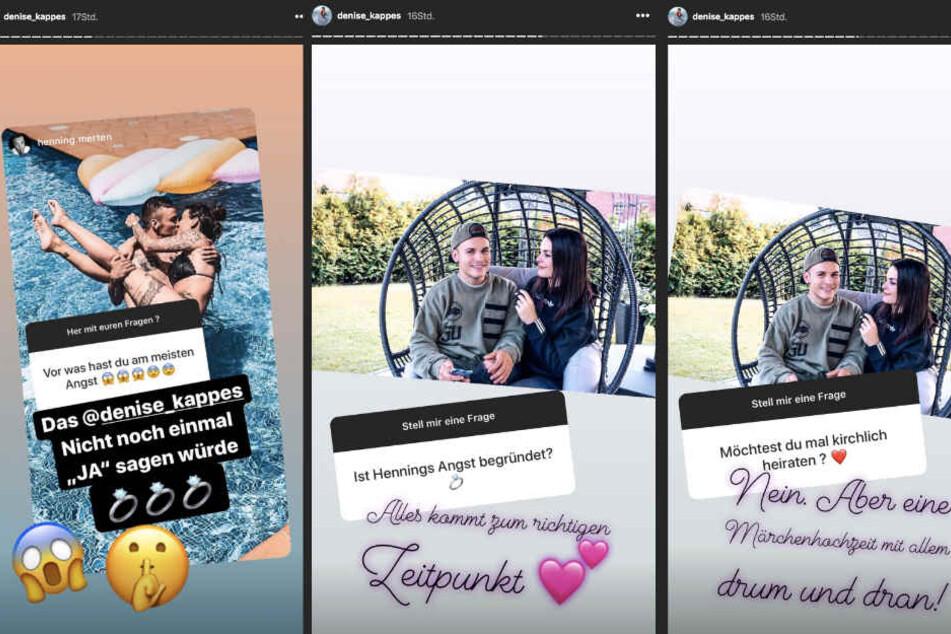 Das Thema Hochzeit ist bei Denisé Kappés (29) und Henning Merten (30) schon jetzt ganz groß.