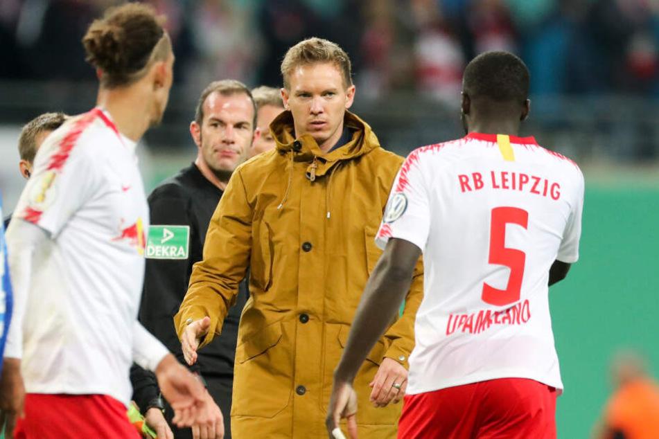Julian Nagelsmann und der TSG Hoffenheim geht es bei dem Duell ebenso um die Champions League wie RB Leipzig.