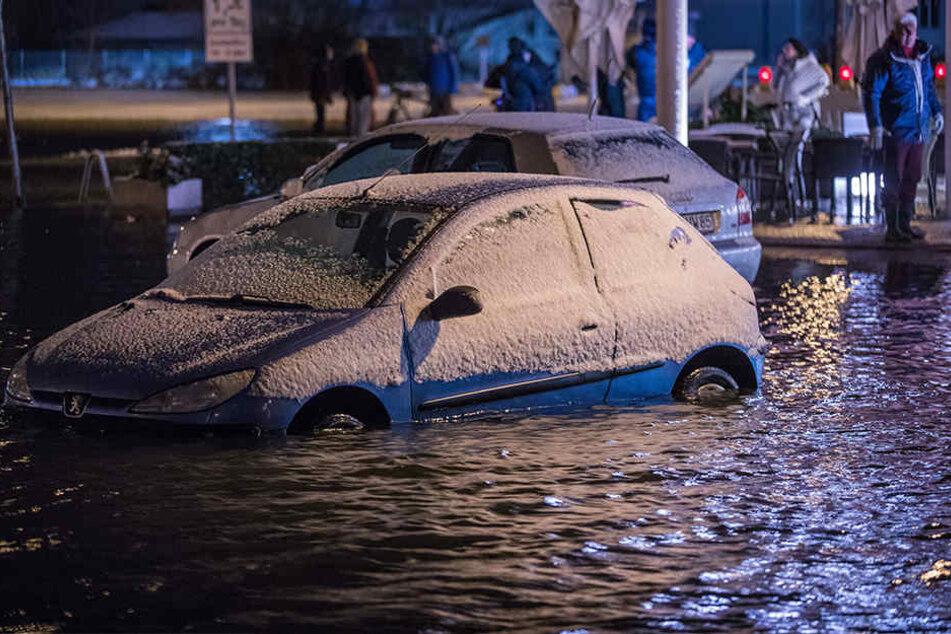 Der Pegelstand in Wismar entsprach einer schweren Sturmflut.