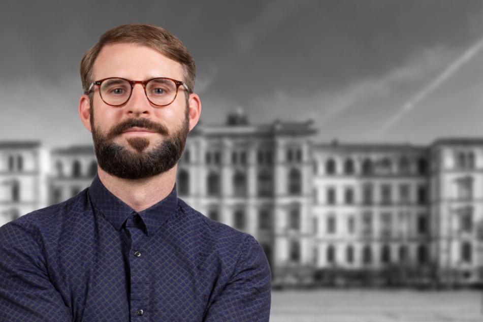 TU-Sprecher Matthias Fejes glaubt, die Gründe für die sinkenden Studi-Zahlen in Chemnitz zu kennen.