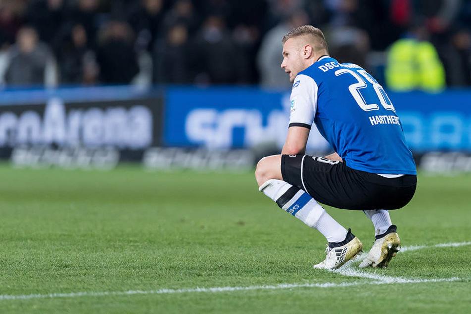 Florian Hartherz war nach dem Schlusspfiff sichtlich enttäuscht über das Ergebnis.