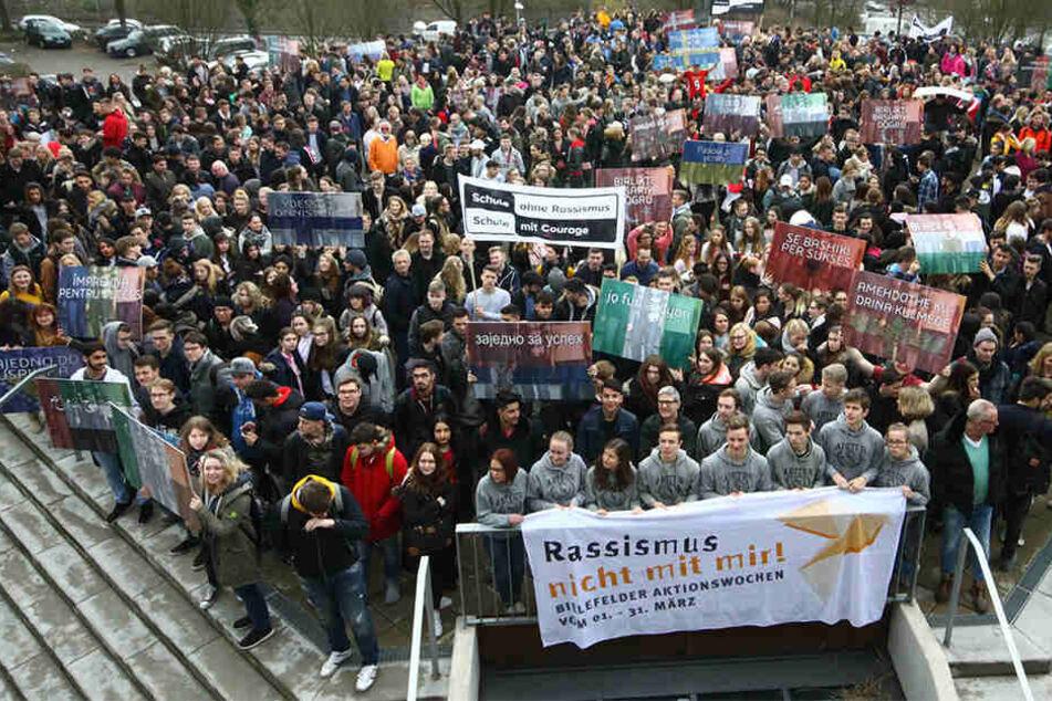 """Rund 2000 bis 3000 Schüler nahmen an der Aktion """"Gemeinsam zum Erfolg"""" teil."""