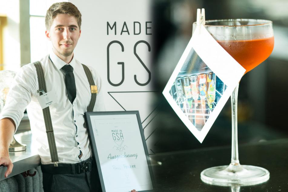 """Der Cocktail """"Zusammenkunft"""", mit dem Paul Pelzer (22) von der Kölner """"Suderman Bar"""" bei der achten """"Made in GSA"""" Cocktail Competition gewonnen hat."""