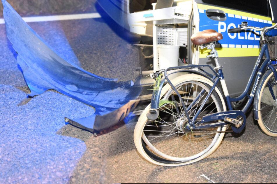 Schwerer Unfall samt Flucht: Auto kollidiert mit Radfahrerin, Fahrer haut ab!