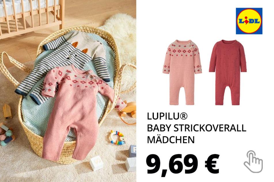 LUPILU® Baby Strickoverall Mädchen, mit Bio-Baumwolle