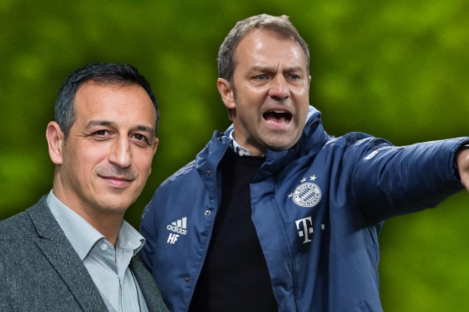Sportdirektor des Fußball-Zweitligisten SpVgg Greuther Fürth, Rachid Azzouzi und FC Bayerns Trainer Hansi Flick. (Bildmontage)