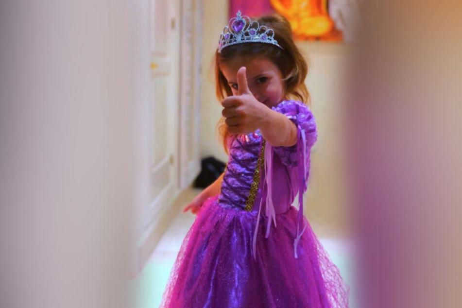 Hier als Prinzessin verkleidet: Katzenberger-Tochter Sophia (4).