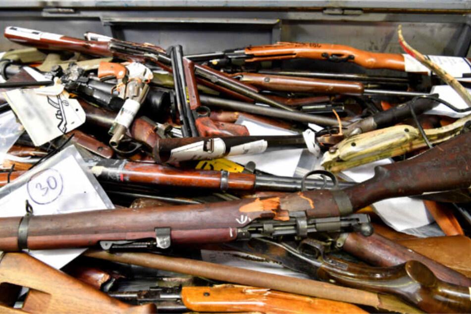 Knapp 3000 Waffen wurden von Juli bis Dezember 2017 abgegeben.