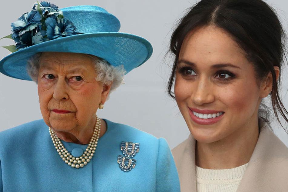 Die Queen wird ein kritisches Auge auf Meghan Markles Brautkleid werfen.