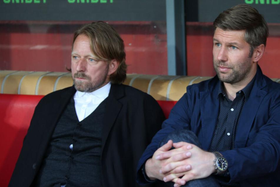 Die beiden sportlich Verantwortlichen beim VfB: Sportdirektor Sven Mislintat (l.) und Sportvorstand Thomas Hitzlsperger.