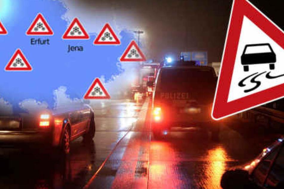 Glatteiswarnungen für ganz Thüringen spricht der Wetterdienst für die kommenden Nächte aus.