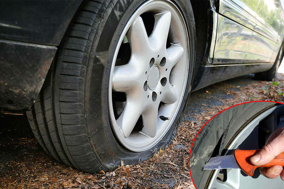 An über 30 Autos Reifen zerstochen oder Lack zerkratzt