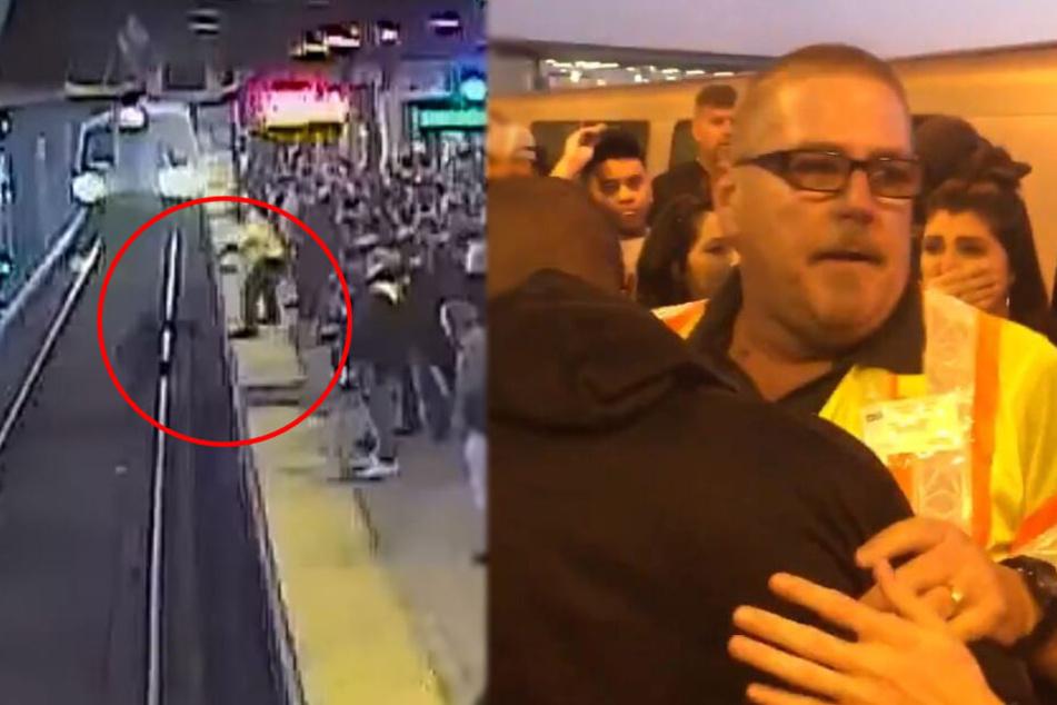 Mann fällt direkt vor U-Bahn, ein anderer wird zum Helden