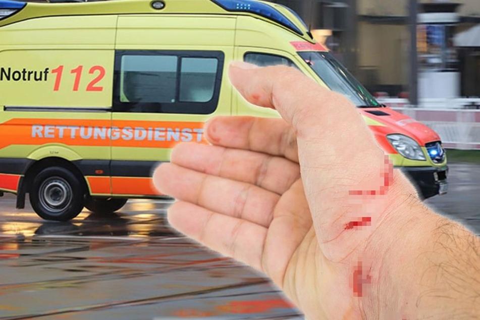 Bei einer Mutprobe n Plauen wurde ein 16-Jähriger verletzt. (Bildmontage)