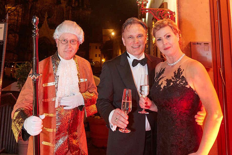 Tessa (49) und Andreas Barth (52) laden zum Kochsternstunden-Menü in die  Böttgerstube des Burgkellers Meißen ein.