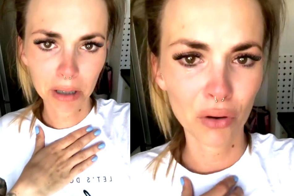 Ist ihre Ehe am Ende? Auf Instagram bricht Denisé Kappés (27) in Tränen aus.