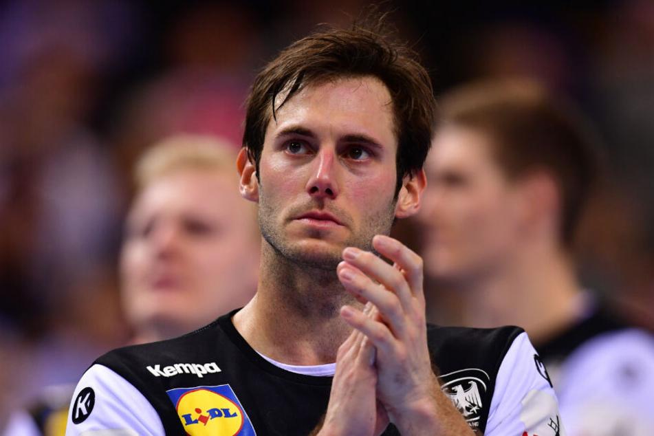 Kapitän Uwe Gensheimer hatte nach der Niederlage Tränen in den Augen.