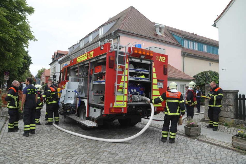 Feuer in Radebeul, Katze mit Sauerstoff versorgt