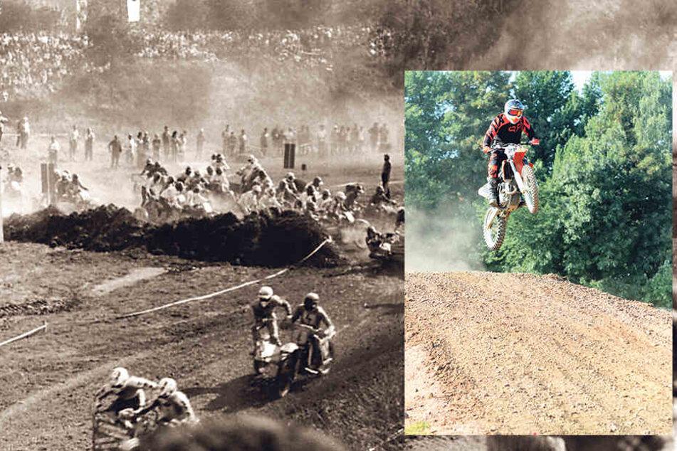 Zu DDR-Zeiten zogen die Motocross-Rennen Zehntausende Zuschauer an.