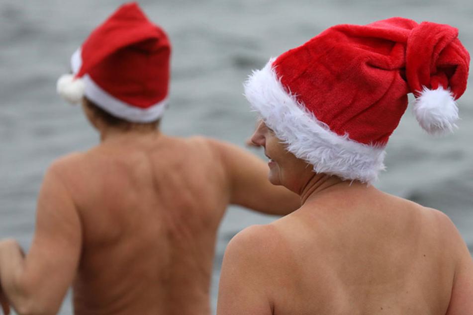 Nackt und frostig: So werden in Brandenburg die Feiertage eingeläutet