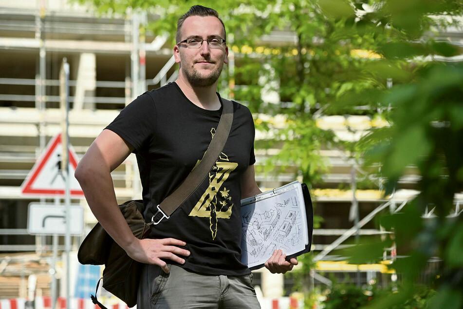 Was wird aus Chemnitz? - Dieser Frage möchte Marcel Wächtler (30) mit Neugierigen auf seiner Führung nachgehen.