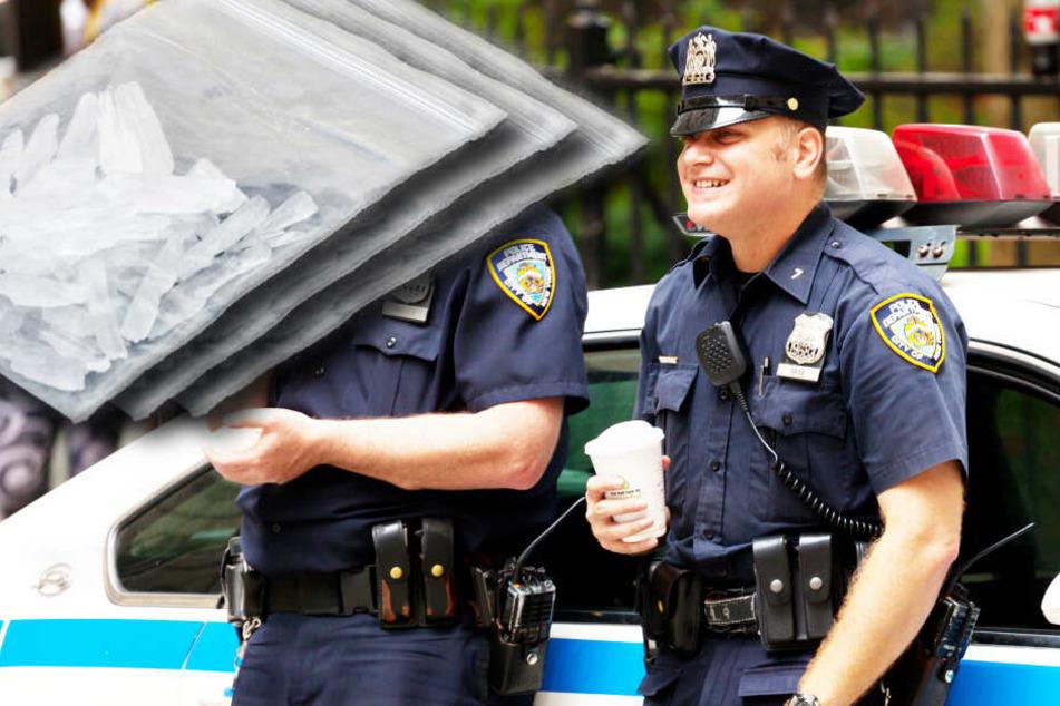 Polizei bietet besonderen Service an: Corona-Tests für Crystal Meth!