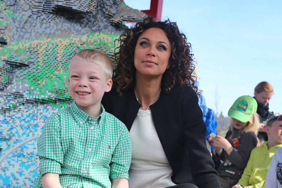 Lilly Becker mit Sohn Amadeus (8).