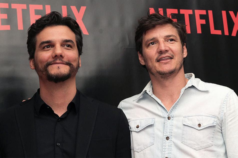 Die Serien-Darsteller Wagner Moura und Pedro Pascal.