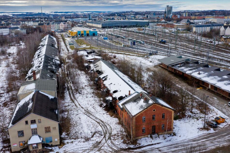 Auf dem Brachflächen-Gelände des alten Güterbahnhofs will der Verkehrsverbund Mittelsachsen (VMS) einen Betriebshof für 50 Millionen Euro bauen.