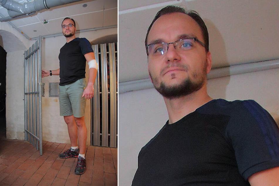 Enrico Ledermüller (35) streckte drei Keller-Einbrecher nieder.