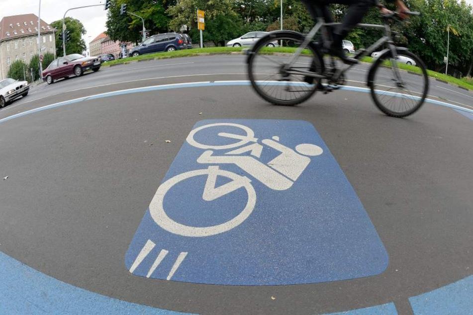 In Dresden sollen künftig Radschnellwege den Radverkehr beschleunigen.