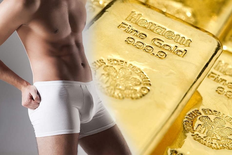 Der Mann schmuggelte auch Goldbarren in seinem Hinterteil. (Symbolbild)