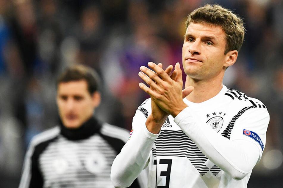 Nach neun Jahren und 100 Länderspielen im DFB-Dress ist für Thomas Müller bei der Nationalmannschaft Schluss.
