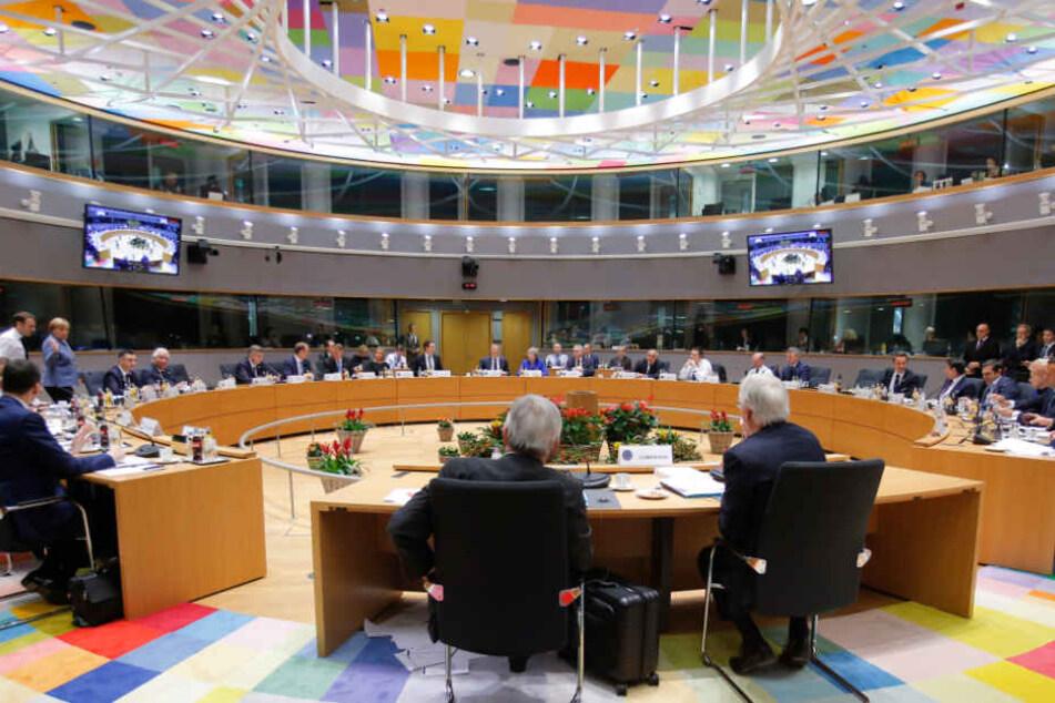 Die EU-Staatschefs versammelten sich am Sonntag in Brüssel um nach einer Lösung für den Austritt Großbritanniens zu suchen.