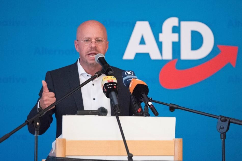 AfD-Landesvorsitzender Andreas Kalbitz will in Brandenburg bei der Landtagswahl für Furore sorgen.