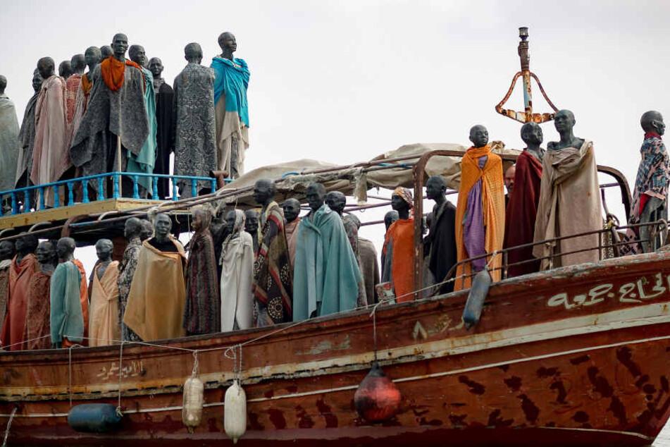 """Die """"Al-hadj Djumaa"""" war im Sommer 2013 mit 217 Eritreern und 65 Äthiopiern an Bord aus Ägypten gekommen."""