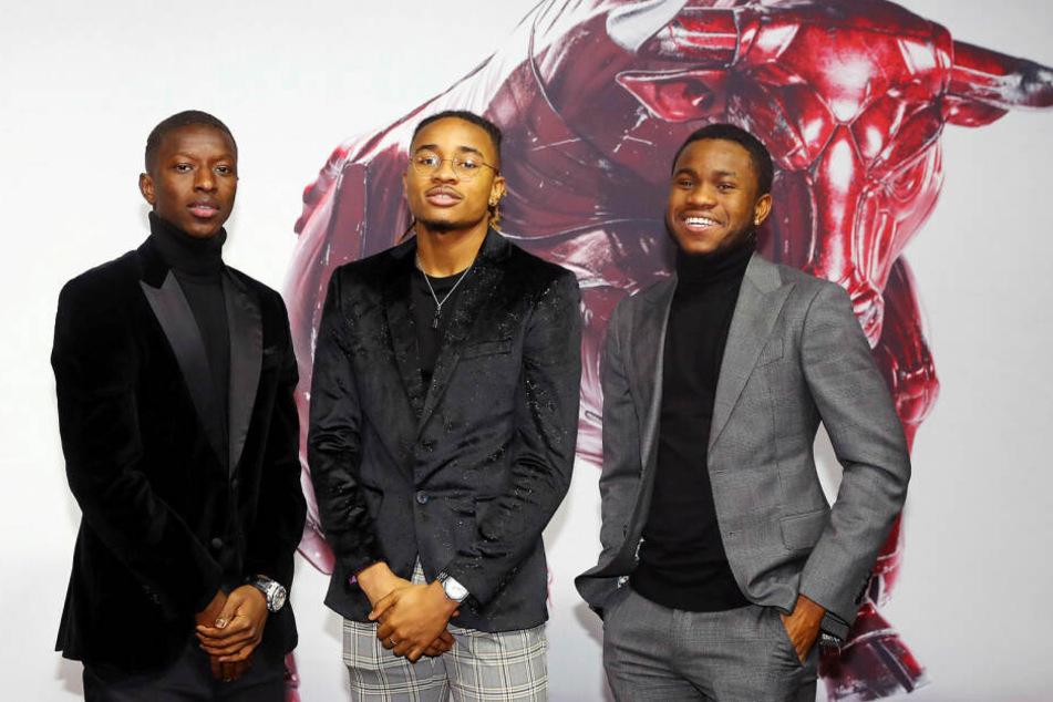 Die ganz Coolen: Amadou Haidara, Christopher Nkunku und Ademola Lookman (v.l.n.r.).