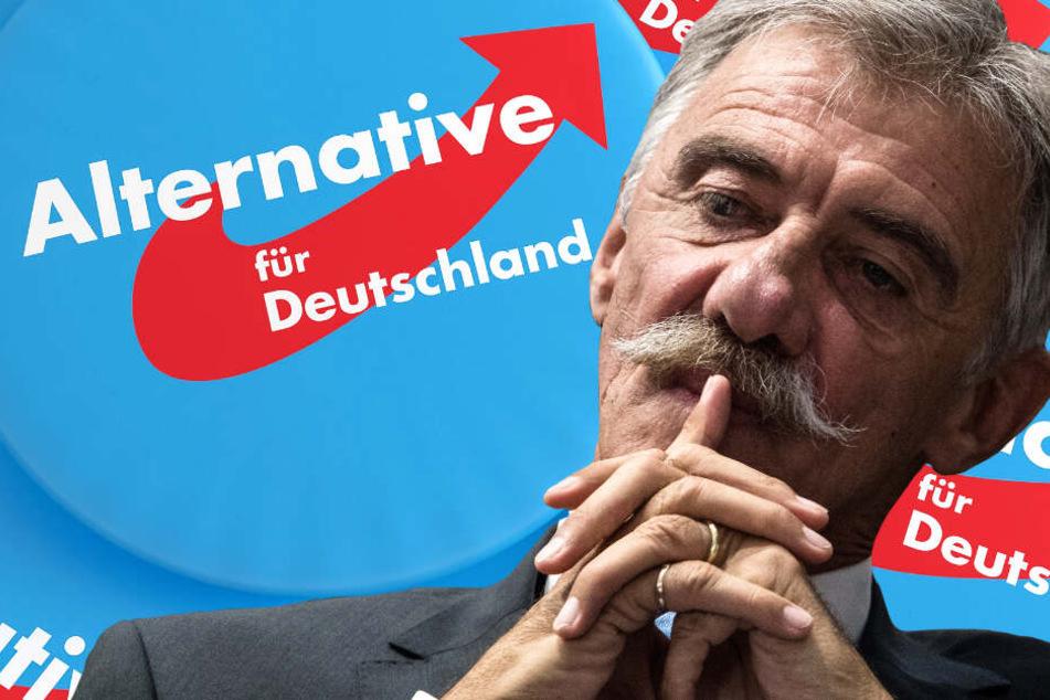 Die Fotomontage zeigt Uwe Junge, den Chef der AfD in Rheinland-Pfalz.