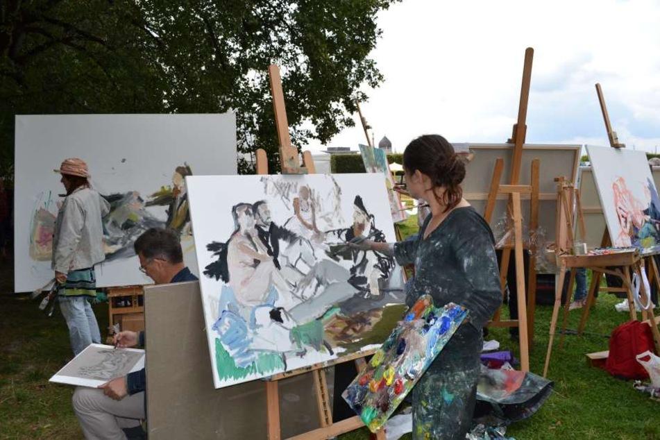 Bloß nicht einschüchtern lassen: Das gemeinsame Malen begrüßt sowohl Profis, als auch Amateure, wie auch Kinder.